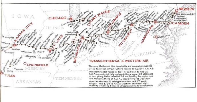 •Transcontinental & Western Air