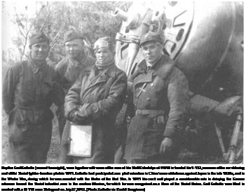 Подпись: Kapitan Farit Fatkullin (second from right), seen together with some of the men of his Staff Eskadrilya of 44IAD in front of his 1-153, was one of the most daring and skillful Soviet fighter-bomber pilots in 1941. Fatkullin had participated as a pilot volunteer in China's war of defense against Japan in the late 1930s, and in the Winter War, during which he was awarded with the Order of the Red Star. In 1941 his crack unit played a considerable role in delaying the German advance toward the Soviet industrial area in the eastern Ukraine, for which he was recognized as a Hero of the Soviet Union. Farit Fatkullin was killed in combat with a Bf 110 near Stalingrad on July 27,1942. (Photo: Fatkullin via Rashit Ibragimov.)