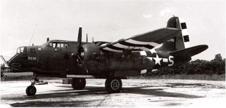 """Invasion Stripes"" removed from top surface of wings and fuselage of small artillery liaison aircraft (Piper Cubs), June 1944"