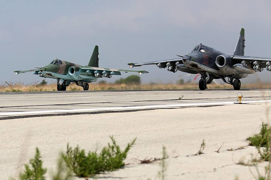The Ministry of Defence of the Russian Federation showed VKS planes in Syria
