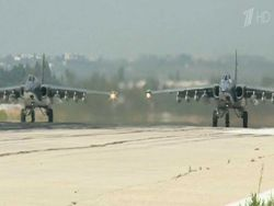 The Russian planes struck new blows to positions of fighters