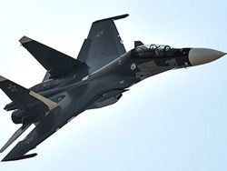 In the Crimea the first squadron of sea aircraft Su-30СМ
